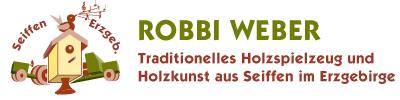 Holzspielzeug Robbi Weber | Seiffen Erzgebirge-Logo